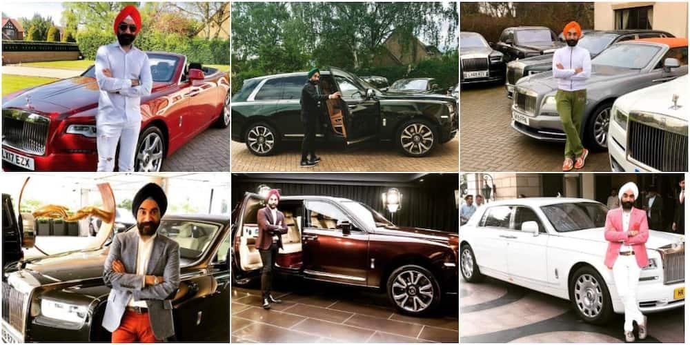 Reuben Singh is a lover of Rolls Royce.