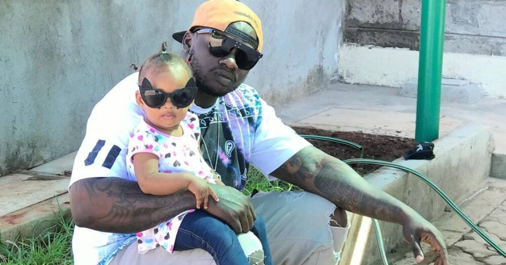 Daddy's girl: Khaligraph Jones, daughter Amali match outfits in cute video