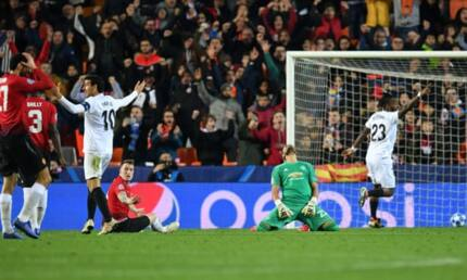 Resolute Valencia sink sluggish Man United in tough Group H Champions League clash