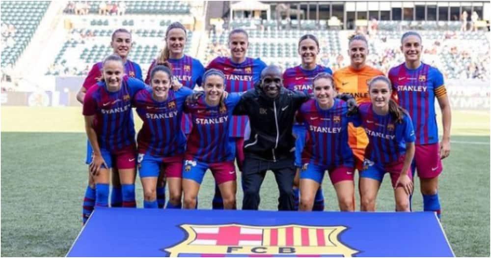 Barcelona women's team.