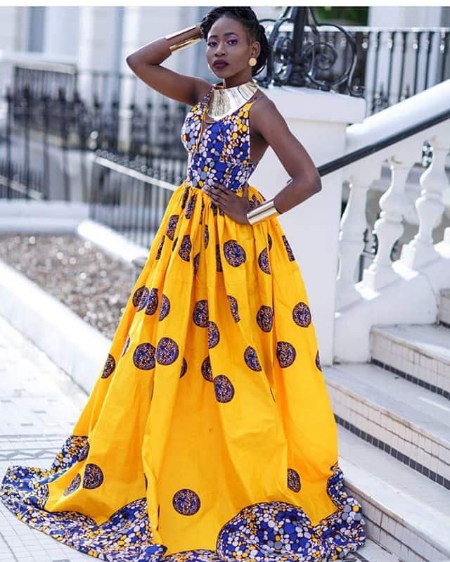 kitenge wedding gowns