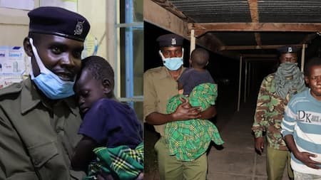 Kendu Bay: Kindhearted Police Officers Manning Roadblock Assist Sick Woman, 1-Year-Old Son
