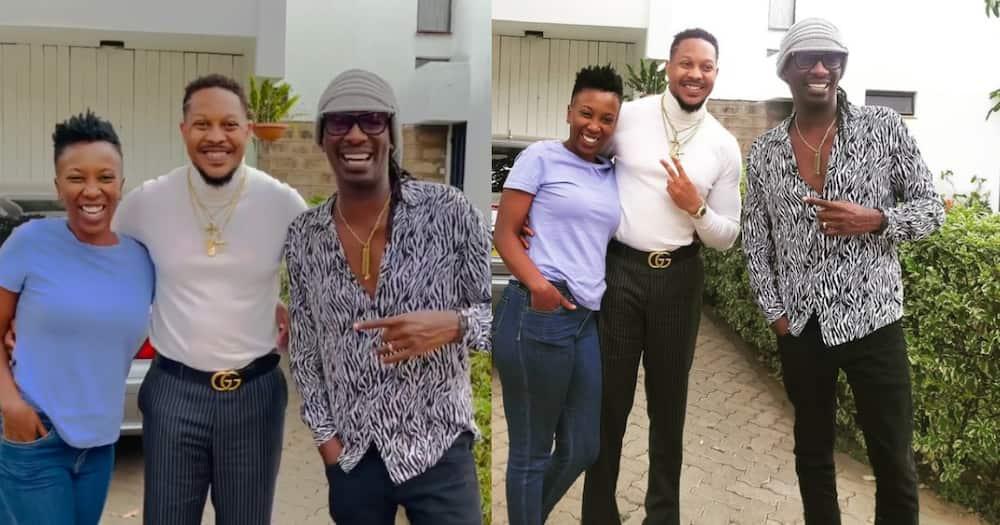 Nameless, Wahu Reunite with Lovy Longomba During His Kenyan Visit