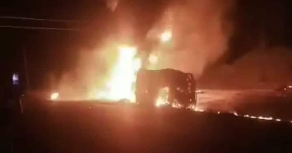 The Gem petrol tanker accident scene. Photo: TV47.