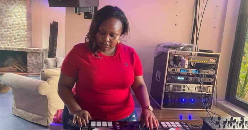 """Photo of Millicent Omanga Spinning The Decks Sparks Hillarious Reactions: """"Play Tano Tena"""""""