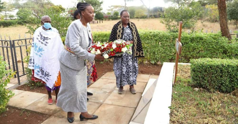 CS Monica Juma was at the late Joseph Nkassiery's home to mark the fourth anniversary since the former minister died.