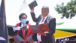 Amos Nyaribo sworn in as Nyamira Governor days after Nyagarama's death