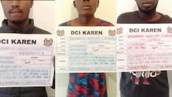 Lang'ata DCI detectives arrest 3 men who robbed woman on routine morning jog