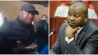Rashid Echesa, Swahiba Wake Wapigana na Afisa wa Polisi Wakizozania Mwanamke