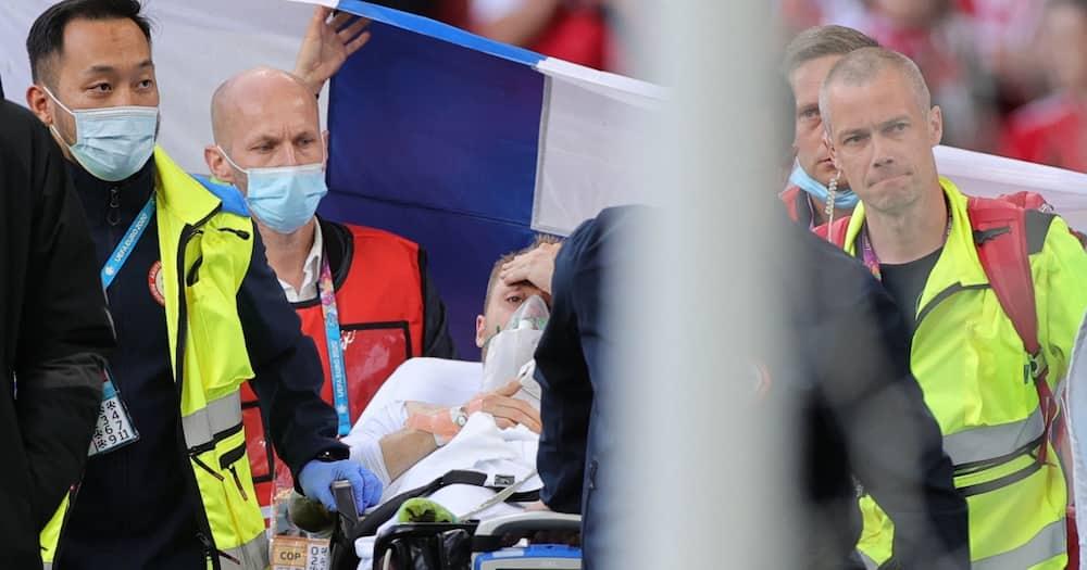 Christian Eriksen collapses during Denmark vs Finland game