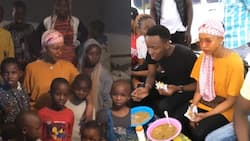 Socialite Huddah Monroe warms hearts after spending birthday with less fortunate in Mathare slums