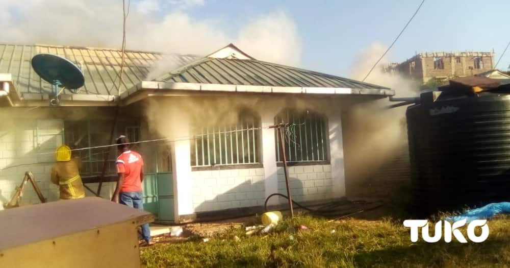 Fire Razes Homa Bay Journalist's House in Night Incident