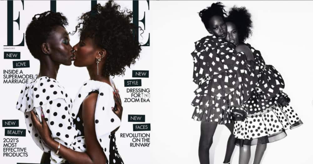South Sudanese model Aweng Chuol, her wife Lexy grace cover of famous magazine Elle