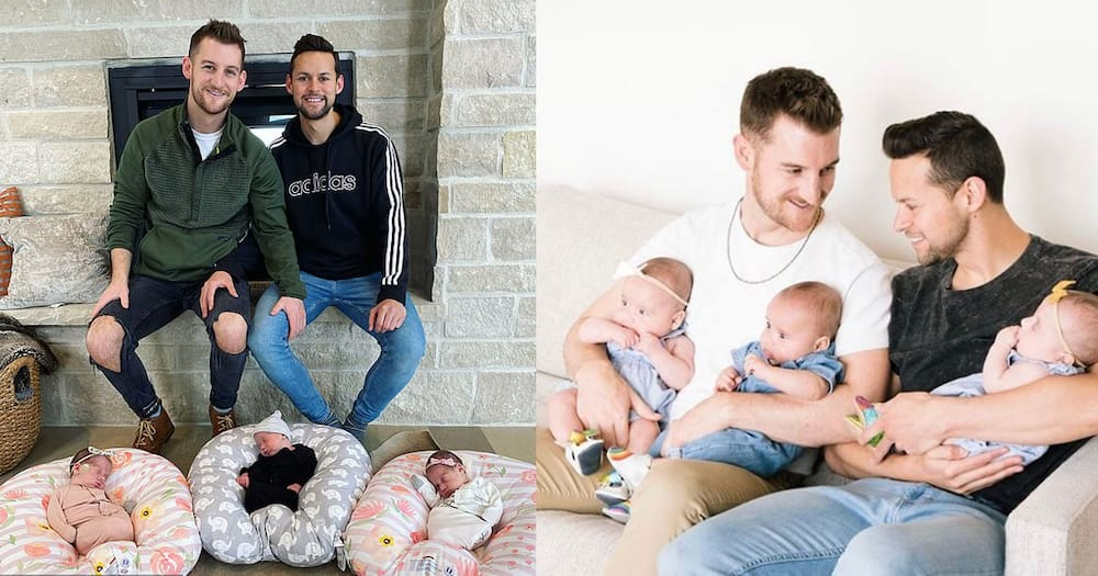 A gay couple who welcomed triplets narrated their fatherhood journey