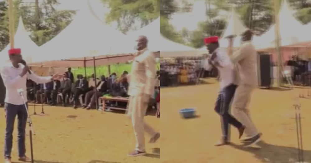 Bungoma Funeral Turns Chaotic as Man Snatches Microphone from Kimilili MP Didmus Barasa