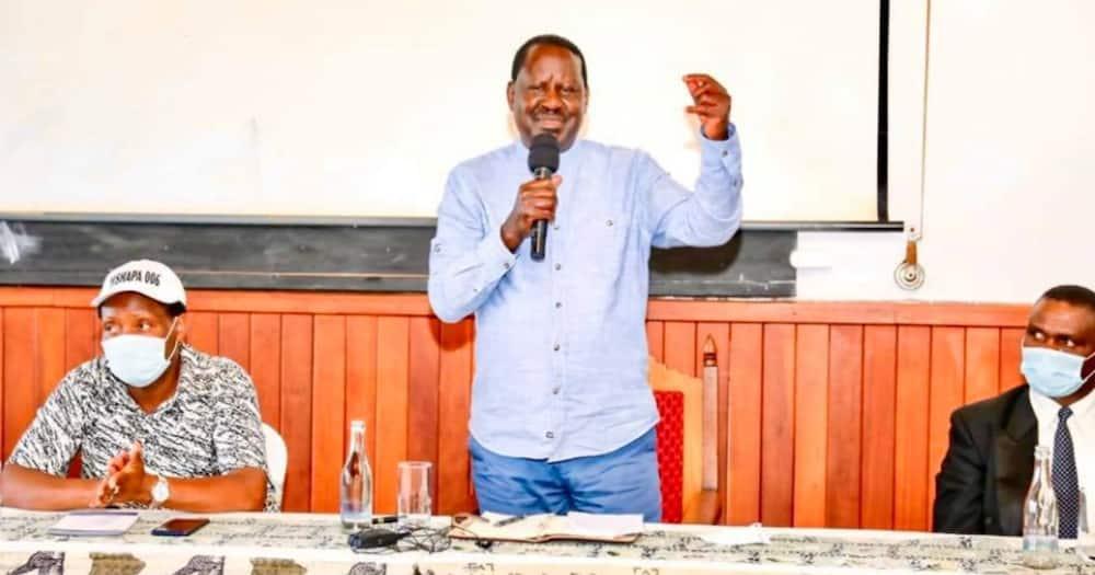 Raila Odinga scolds MPs Oscar Sudi, Ng'eno over Mama Ngina slur