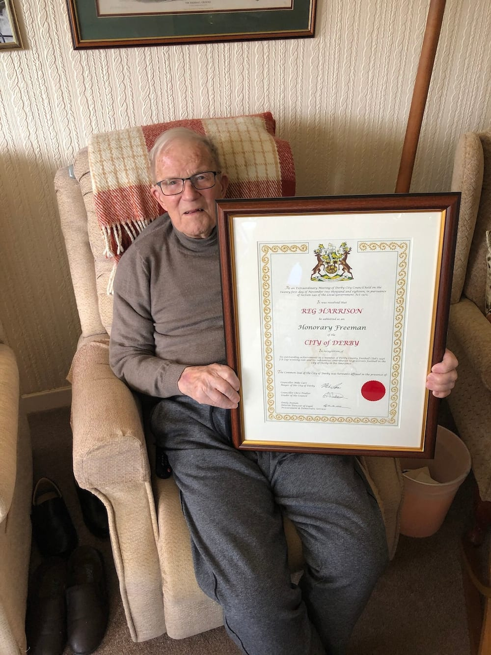 Reg Harrison, oldest living FA Cup winner passes on at age 97