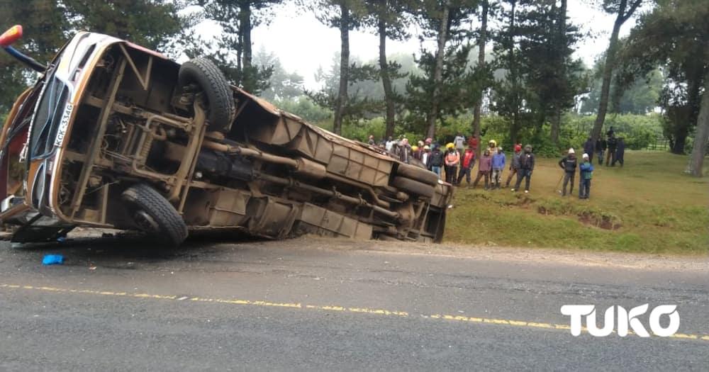 Over 20 injured after bus rolls several times in Timboroa along Nakuru-Eldoret highway