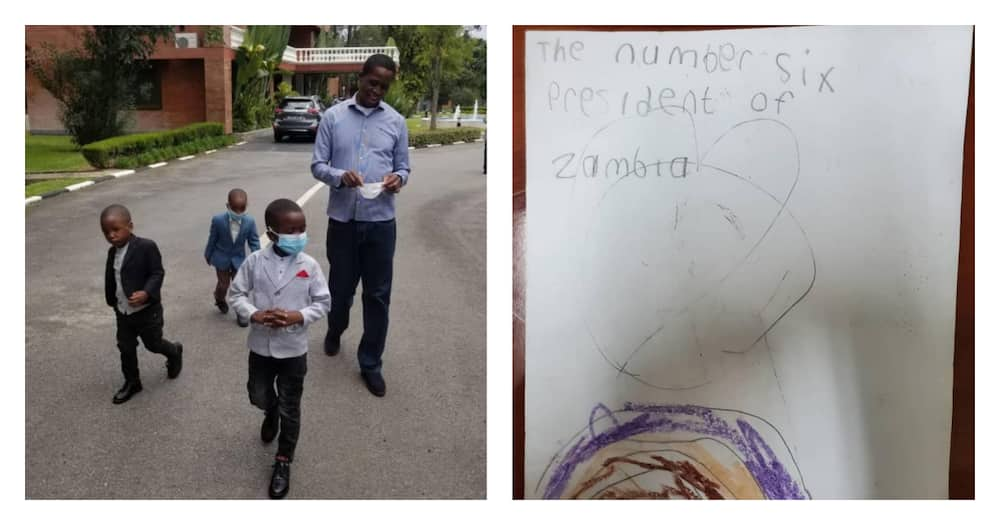 """Zambian president emotional after 4 little children bring him sweet letter: """"I love you too"""""""