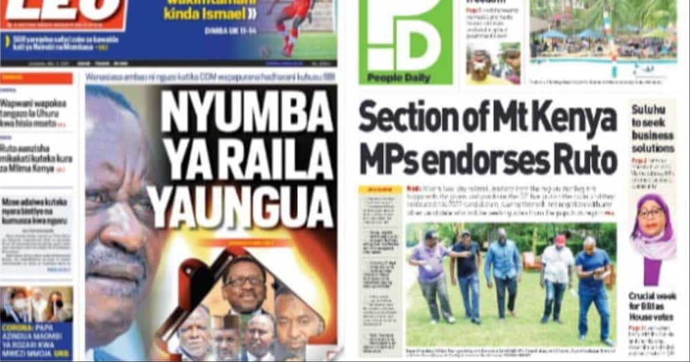 Newspaper Review For May 3: Ruto Settles For Running Mate From Mt Kenya