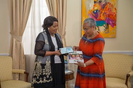 Zimbabwean First Lady says she wants to be mentored by Margaret Kenyatta