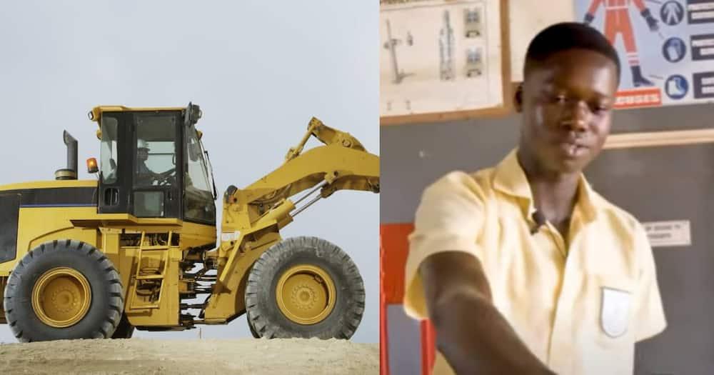 Student of Takoradi Technical Institute builds water powered excavator