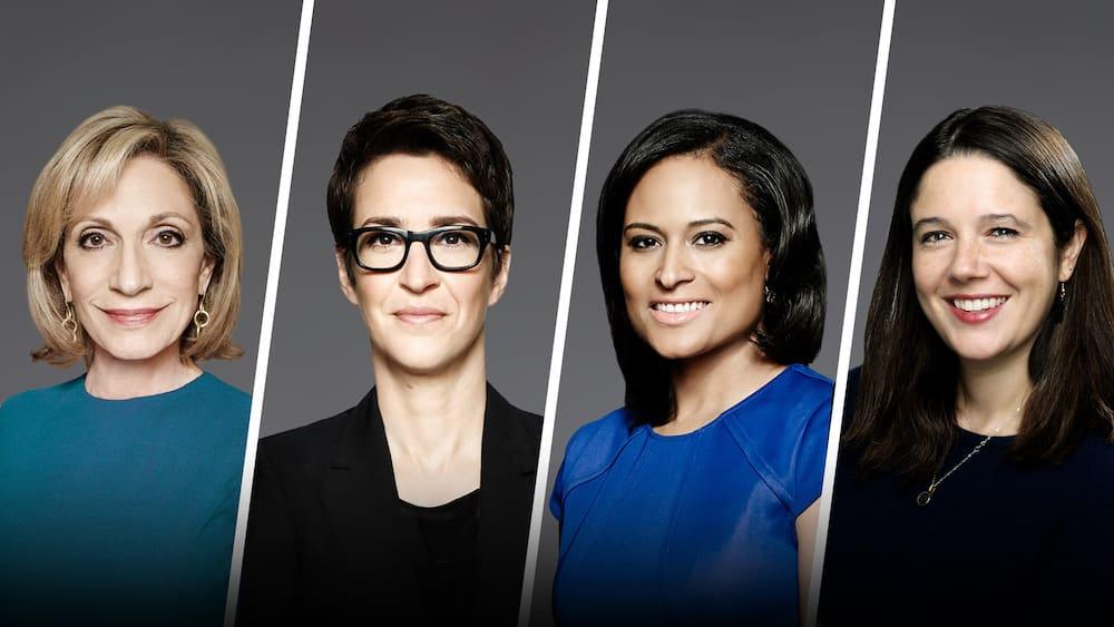 female MSNBC news anchors