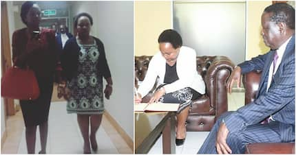 Anne Waiguru meets Muthama to reconcile after withdrawing Raila's defamation case