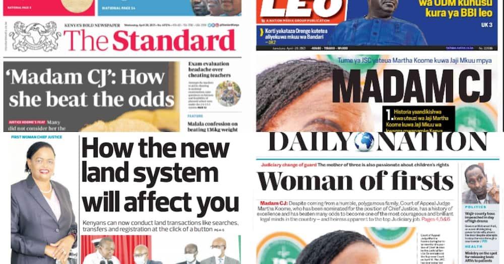 Newspapers Review for April 28: 4 Missing Kitengela Men Lived Lavishly, Spent Fortunes on Women, Alcohol