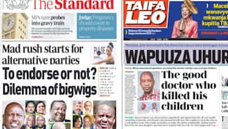 Kenyan Newspapers Review for September 24: Showdown Looms as Fight for UDA Tickets Begin