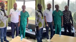 Raila Odinga Visits MP Moses Kuria in Hospital, Wishes Him Quick Recovery