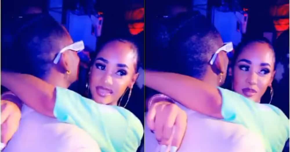 5 photos of Diamond bonding baby mama Tanasha, their son during visit
