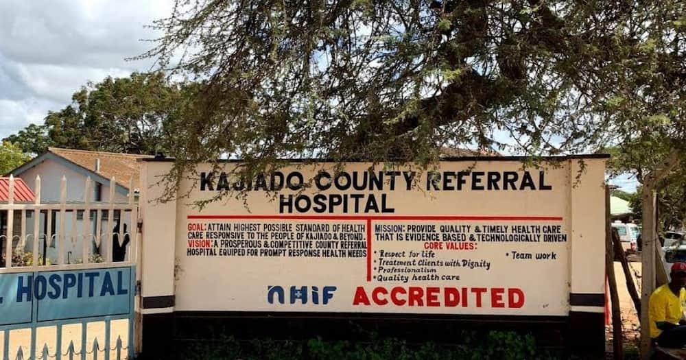 The entrance to Kajiado County Referral Hospital.
