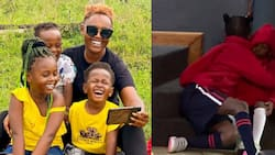 Nana Owiti Shares Emotional Moment Her Daughter Consoled Ailing Nanny's Son Before Leaving for School