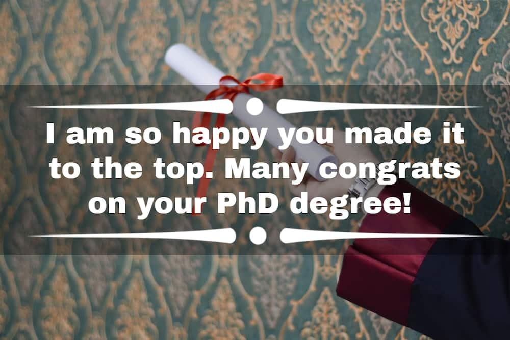 PhD congratulations
