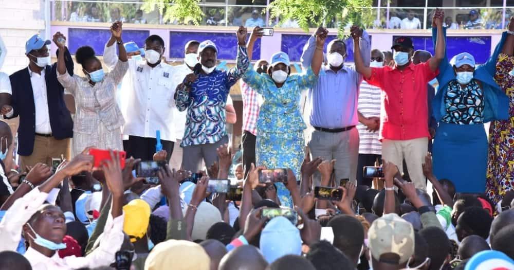 Machakos by-election: Mudavadi, Wetangu'la and Gideon join Kalonzo in drumming up for Wiper candidate