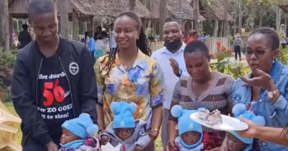 Fred Machokaa was stunned by four babies who celebrated their birthday at his ranch.