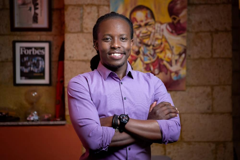 Young millionaire Eugene Mbugua says its embarrassing he could not swim as an adult