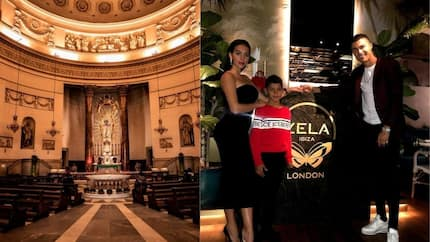 Ronaldo and partner Georgina check out vintage Italian church as search for wedding venue begins