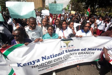 Demands and latest updates on nurses strike in Kenya