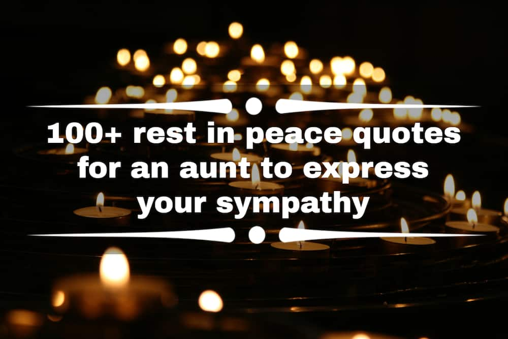 rest in peace quotes for an aunt