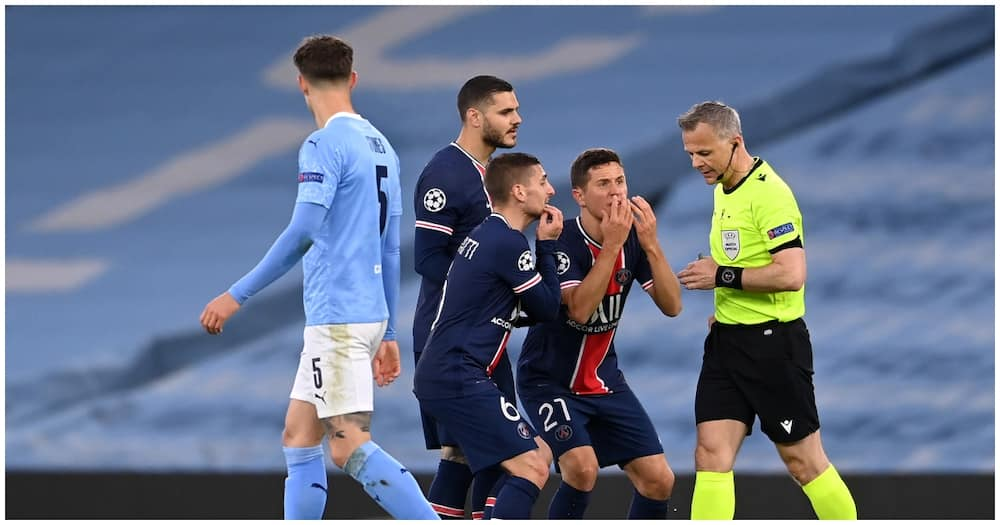 Psg Star Sensationally Claims Referee Used F Word on Them During Man City Clash