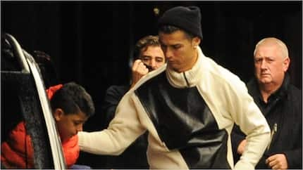 Cristiano Ronaldo stylishly checks into a KSh1.2 million-a-night hotel with family in London