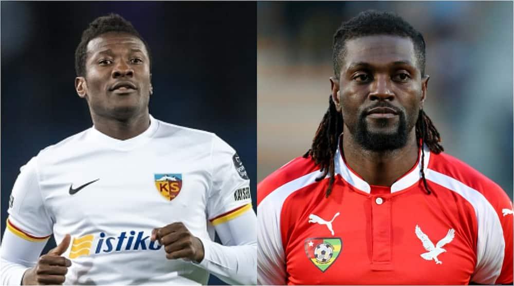 Asamoah Gyan, Adebayor set for tennis showdown tagged 'clash of legends'