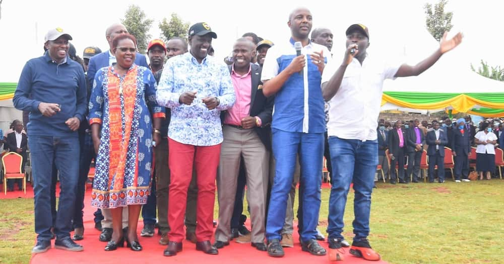 Irungu Kang'ata joins Ruto for public rally days after being dewhipped by Uhuru