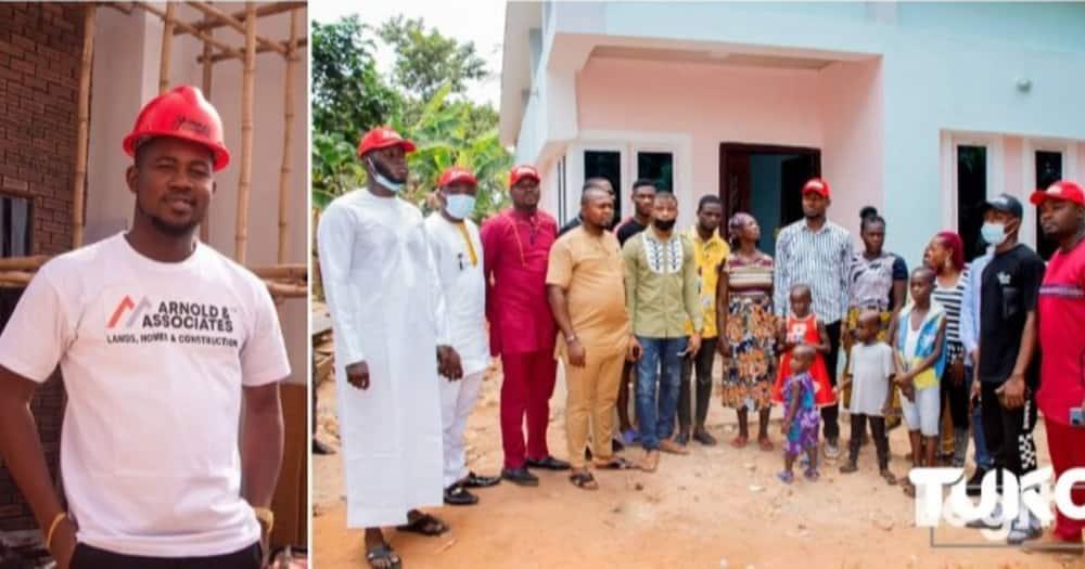 Philanthropist, Arnold Ekweoba donates 2-bedroom bungalow to widow in Anambra