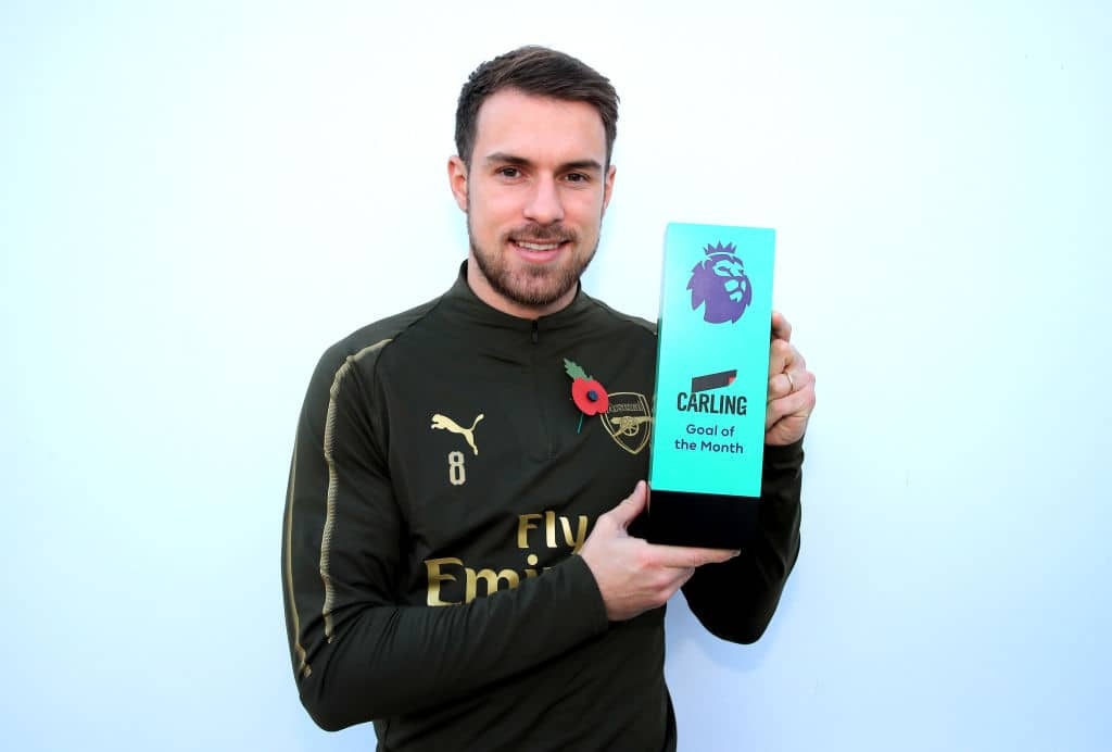 Arsenal's Aubameyang, Ramsey win best EPL Player and Goal in the month of October