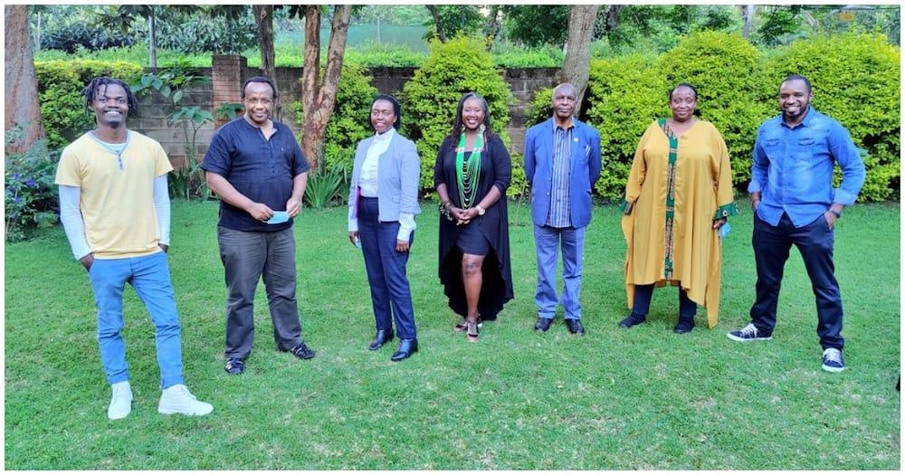 Linda Katiba movement members led by lawyer Martha Karua. Photo: David Ndii