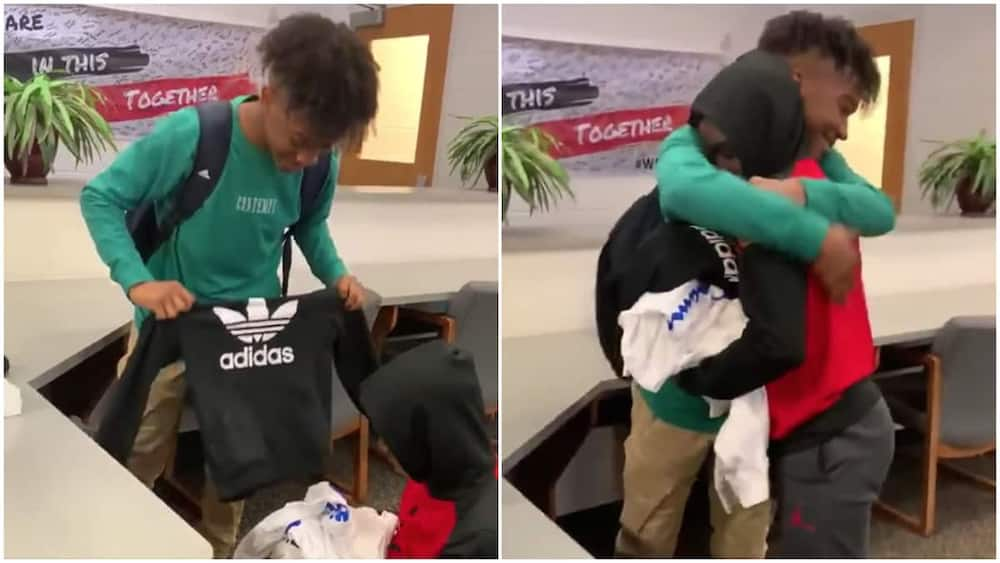 The kind boy was not happy when his friend was bullied for repeating clothes.