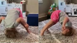 One-Year-Old Baby Girl Wows Mom with Amazing Gymnastics Routine After Watching Olympics